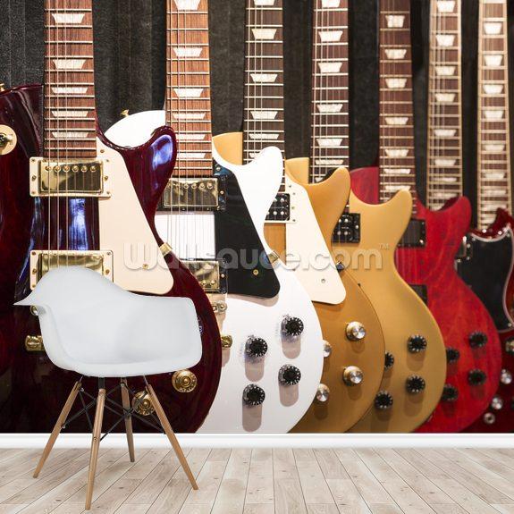 electric guitars wallpaper mural wallsauce us