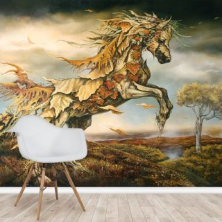 Autumn Horse Wallpaper Wall Murals