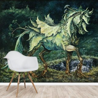 Horse of Leaves Wallpaper Wall Murals
