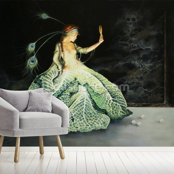 The Ball Gown mural wallpaper room setting