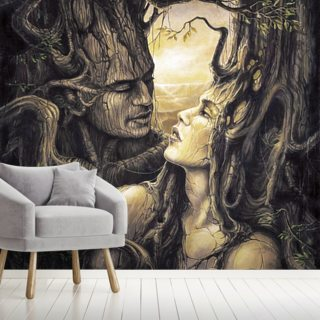 The Couple Wallpaper Wall Murals