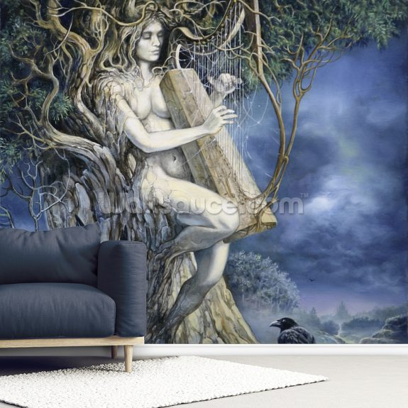 Samhain wallpaper mural room setting