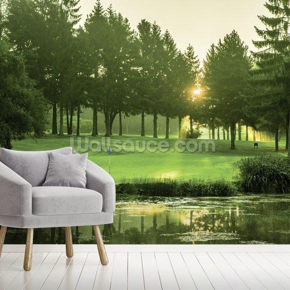 morgend mmerung sonnenstrahl golf wandbild wallsauce de. Black Bedroom Furniture Sets. Home Design Ideas