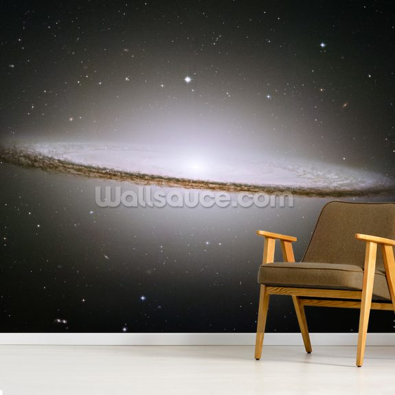 The Majestic Sombrero Galaxy (M104) wallpaper mural room setting