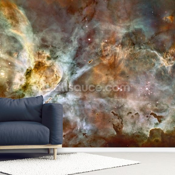 The Carina Nebula: Star Birth in the Extreme wallpaper mural room setting