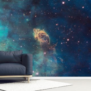 Jet in Carina: WFC3 UVIS Full Field Wallpaper Wall Murals