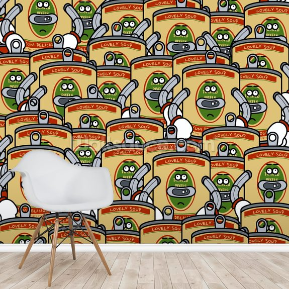 A Group of Soup (2012) wall mural room setting