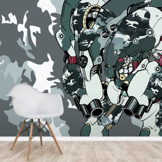 Urban Camo Protection Bot (2012) Wallpaper Wall Murals