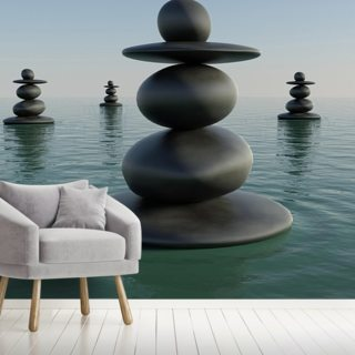 Zen Pebble Stacks