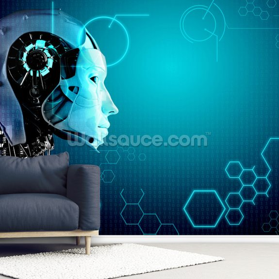 Robot Background wall mural room setting