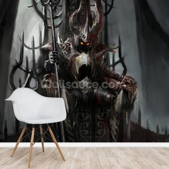 Dark King wall mural room setting