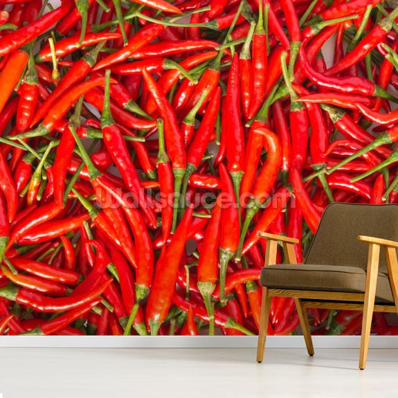 Hot Chilli Peppers wall mural room setting