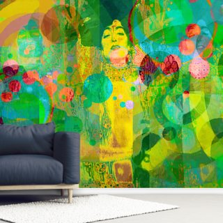 Crazy - Green Wallpaper Wall Murals