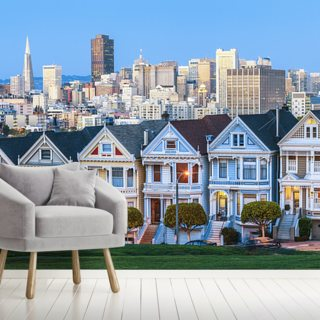 Victorian Houses San Francisco Wallpaper Wallsauce Us