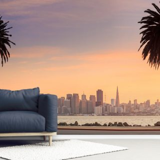 San Francisco from Treasure Island. Wallpaper Wall Murals