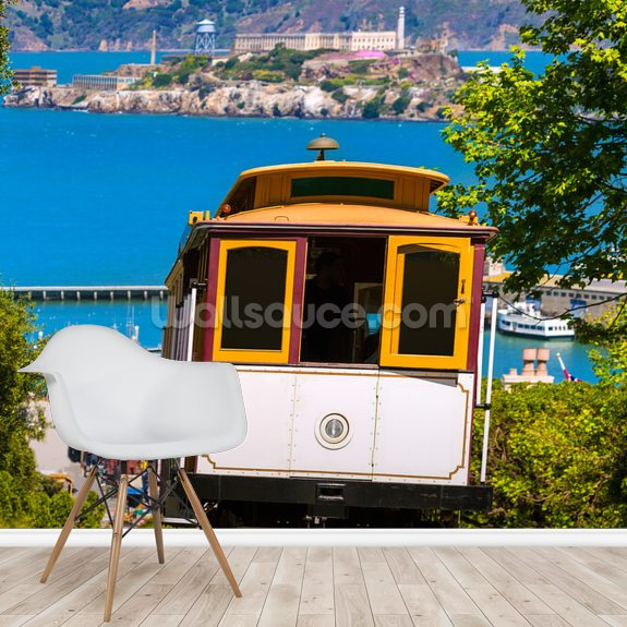 San Francisco Cable Car Wallpaper Mural