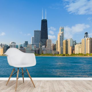 Cityscape of Chicago Wallpaper Wall Murals