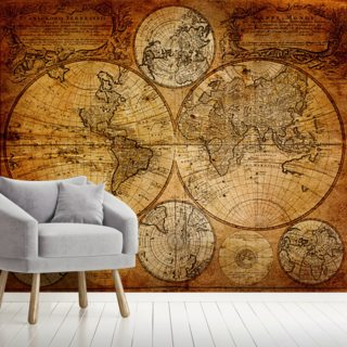 Old Globe Map 1746 Wallpaper Wall Murals