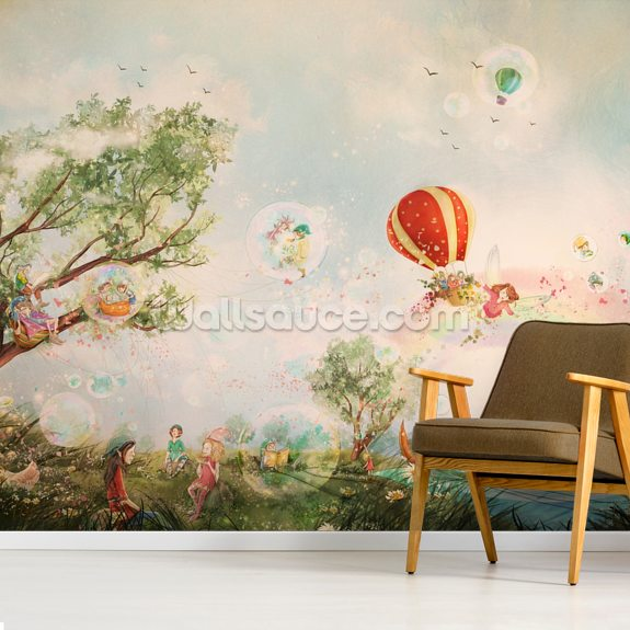 The Meadow wallpaper mural room setting