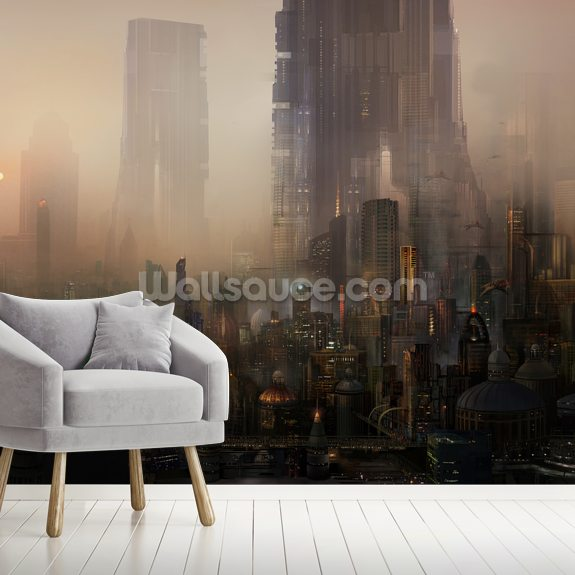 Cohabitations wall mural room setting
