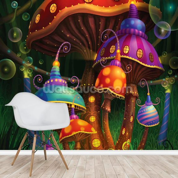 Enchanted Evening wallpaper mural room setting