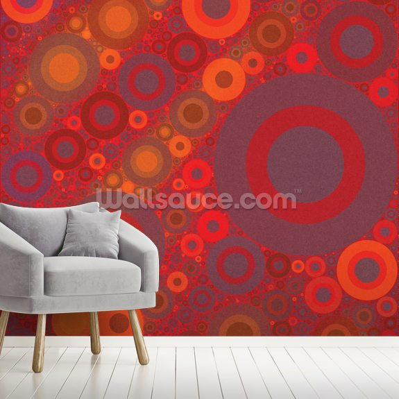 Vitality wall mural room setting