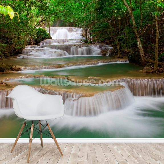 Woodland Waterfall wall mural room setting