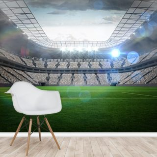 Large Football Stadium with Lights Wallpaper Wall Murals