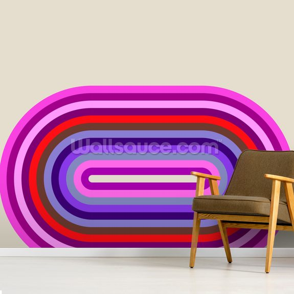 Flow Candy 2 wall mural room setting