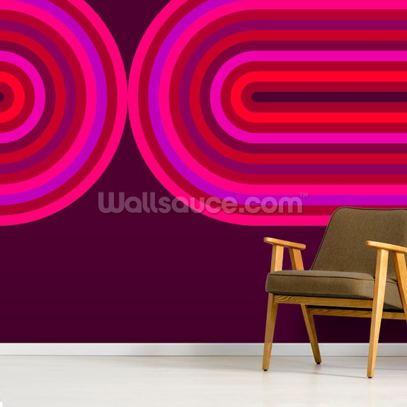 Hot Flow 3 wall mural room setting