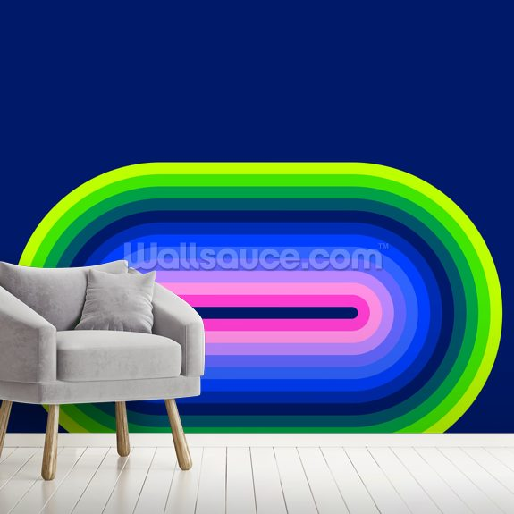 Neon Flow 2 mural wallpaper room setting