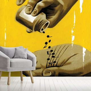 Musical Healing Wallpaper Wall Murals