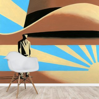 Sunset Hat Wallpaper Wall Murals