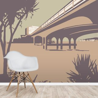 Bournemouth Pier and Beach Wallpaper Wall Murals