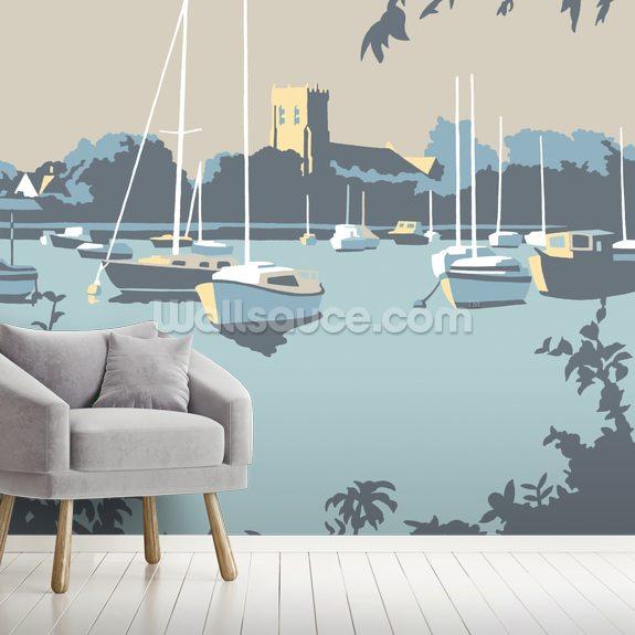 Christchurch wallpaper mural room setting