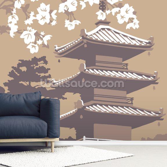 japan wall mural wallsauce usjapan mural wallpaper room setting
