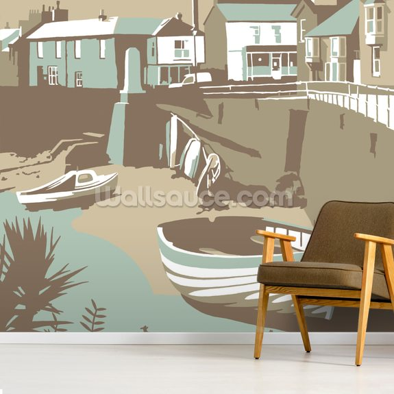 Mousehole wallpaper mural room setting