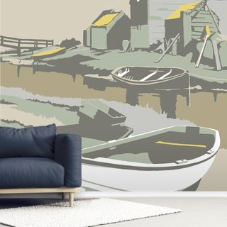 Southwold Harbour 2 Wallpaper Wall Murals