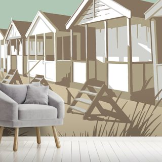 Southwold Huts Wallpaper Wall Murals