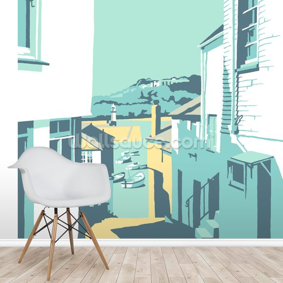 St Ives 2 mural wallpaper room setting