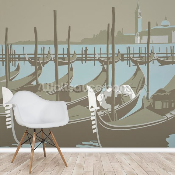 Venice wall mural room setting
