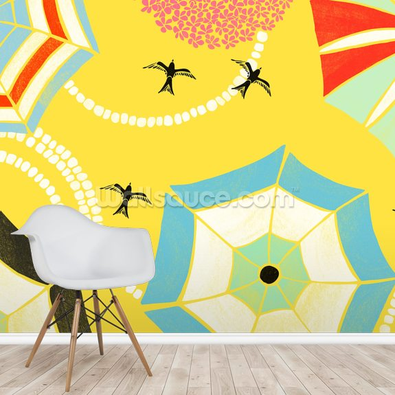 Italian Summer wall mural room setting