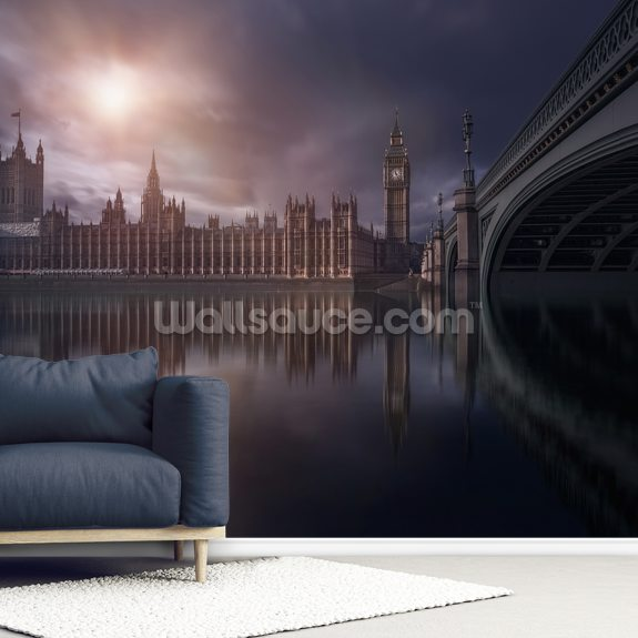 House of Parliament wall mural room setting