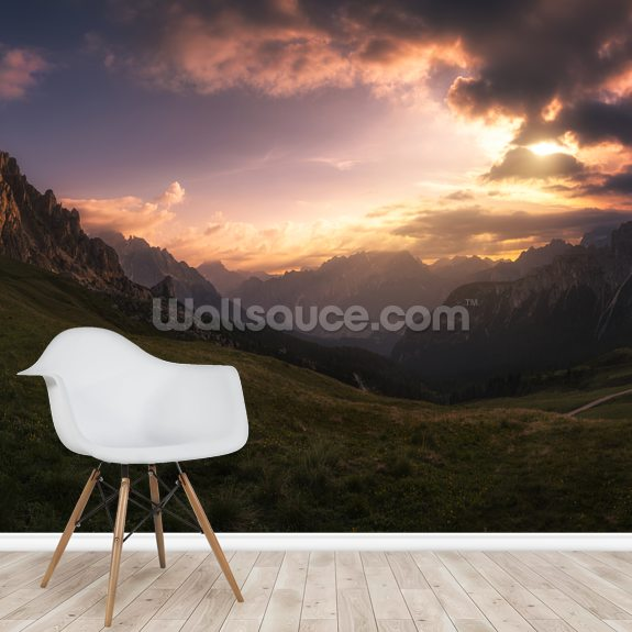 Mountain Valley wallpaper mural room setting