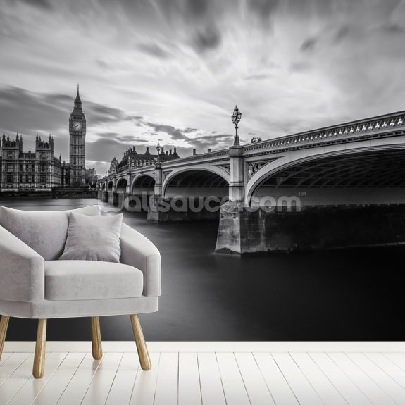 Westminster Serenity wall mural room setting