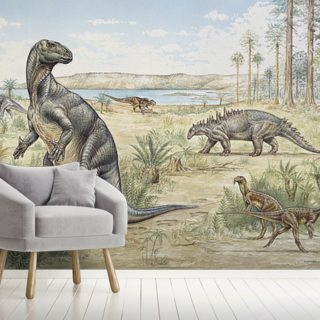 Lower Cretaceous Dinosaurs Wallpaper Wall Murals