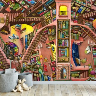 Library by Colin Thompson Wallpaper Wall Murals