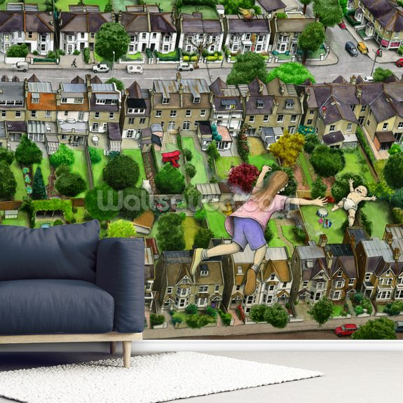 I Can See Our House From Here wall mural room setting