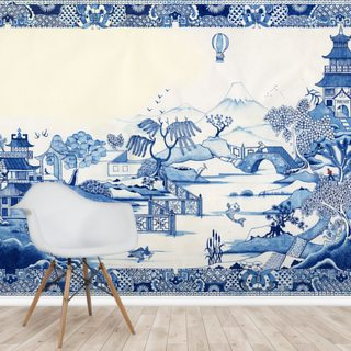 Blue Willow Wallpaper Wall Murals