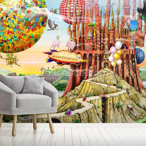 Flying Home wallpaper mural room setting